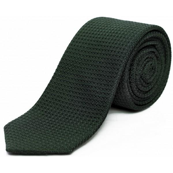 cravate-en-etamine-de-soie-verte