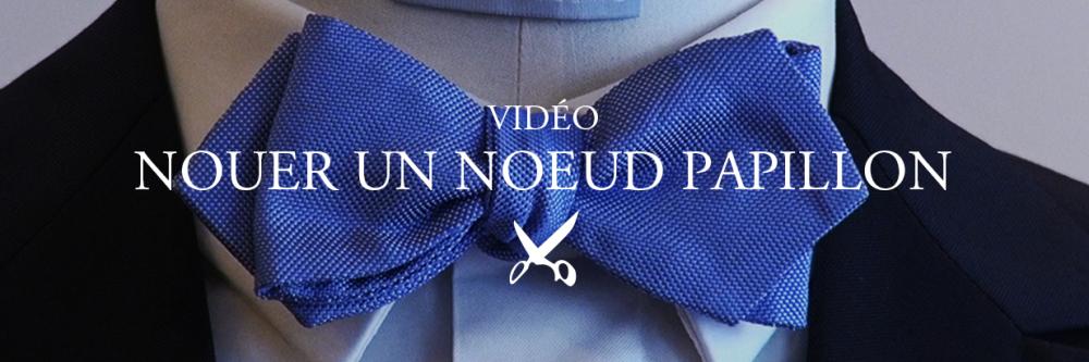 Costume chemise mariage sur mesure homme pochette et - Nouer un noeud papillon ...